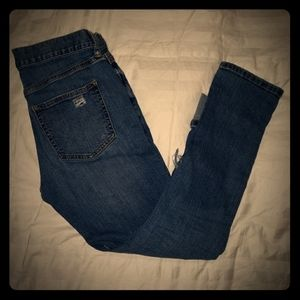 Banana Republic Cropped Ripped Jeans